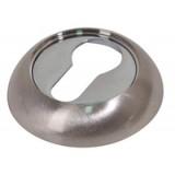 Накладка под цилиндр Comit CMRY-59 R хром/матовый никель
