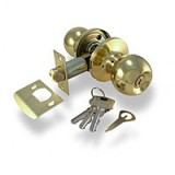 Ручка-кнопка Bruno 607 (3587) РВ пол.лат. с ключом (12533)