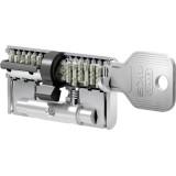 цилиндр EVVA 4KS 80T(40х40T) NI (3 ключa)