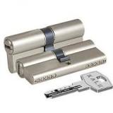 Циліндр KALE 164 BNE 100 mm(45 + 10 + 45) нікель